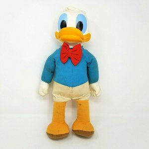 "Vintage Hasbro Disney Dancing Donald Duck Doll 16"""